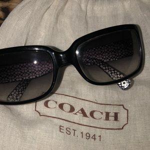 Coach Addison Black Grey fashion sunglasses